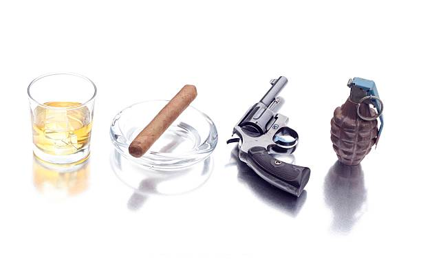 alcohol, tobacco, firearms and explosives stock photo