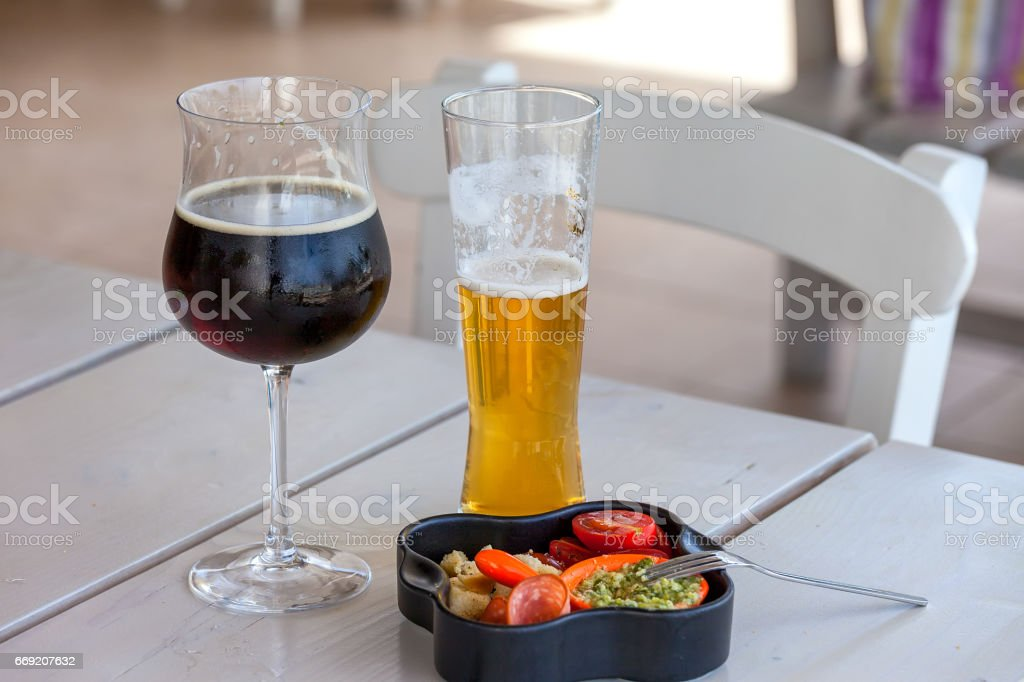 Alcohol with Snack stock photo