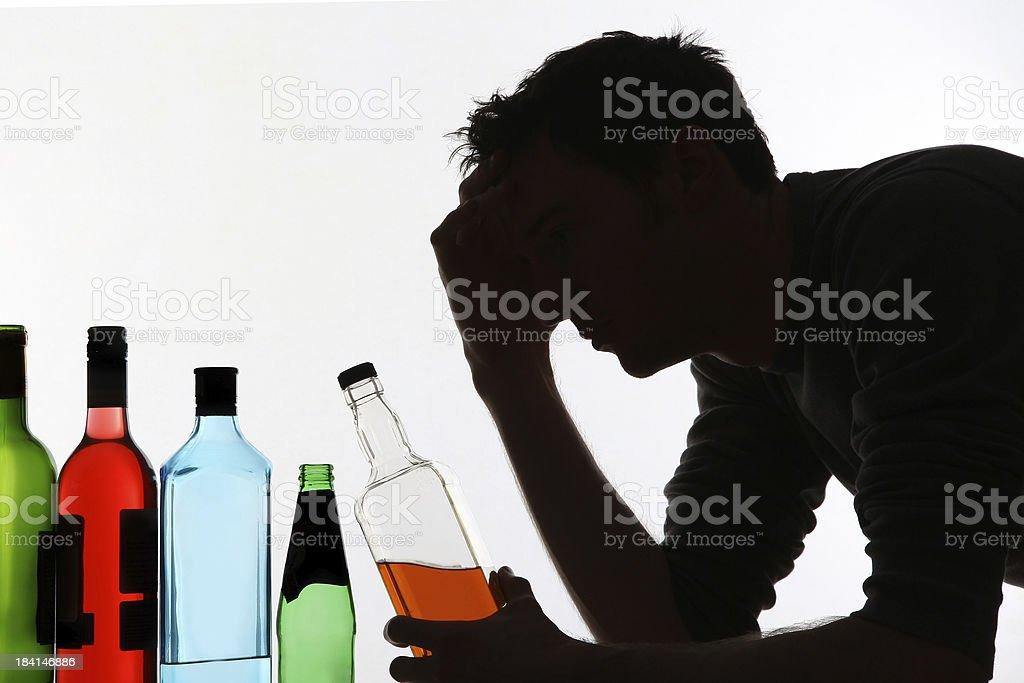 Alcoholic abuse royalty-free stock photo