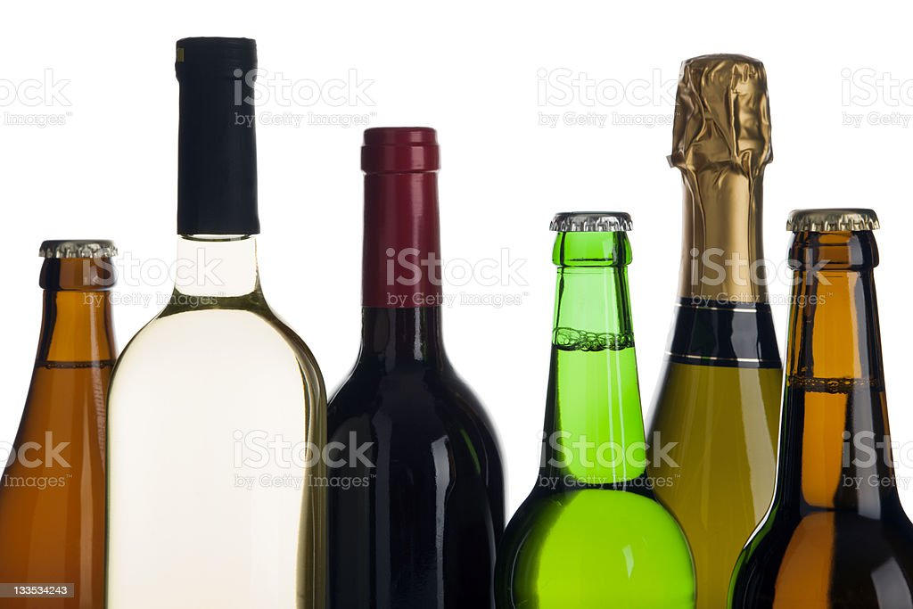alcoholic beverages royalty-free stock photo