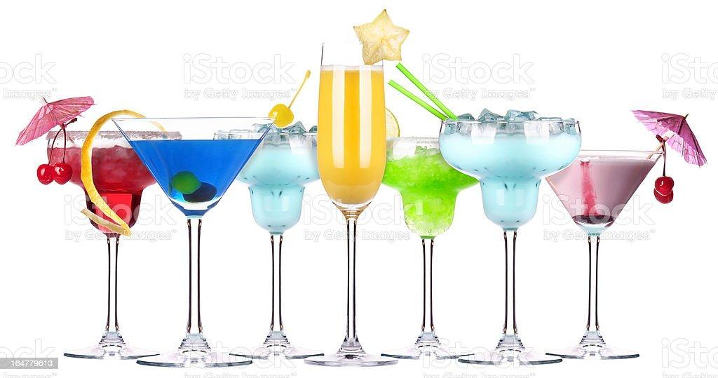 alcoholic cocktail set royalty-free stock photo