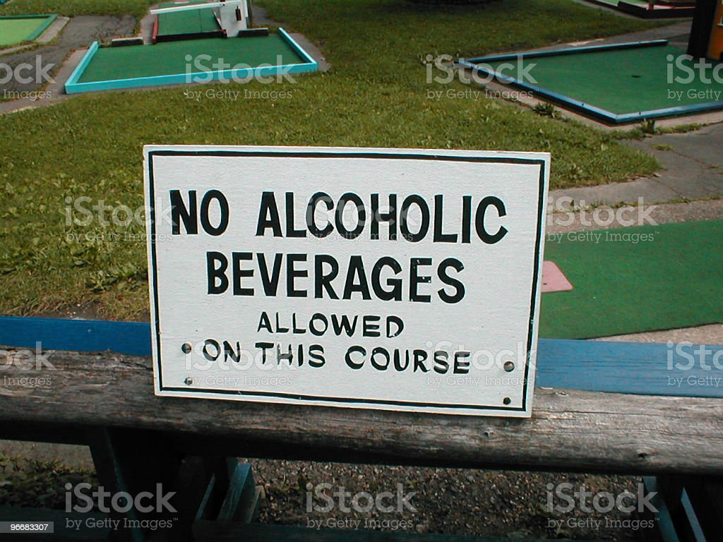 Alcoholic Consumption Not Wanted royalty-free stock photo