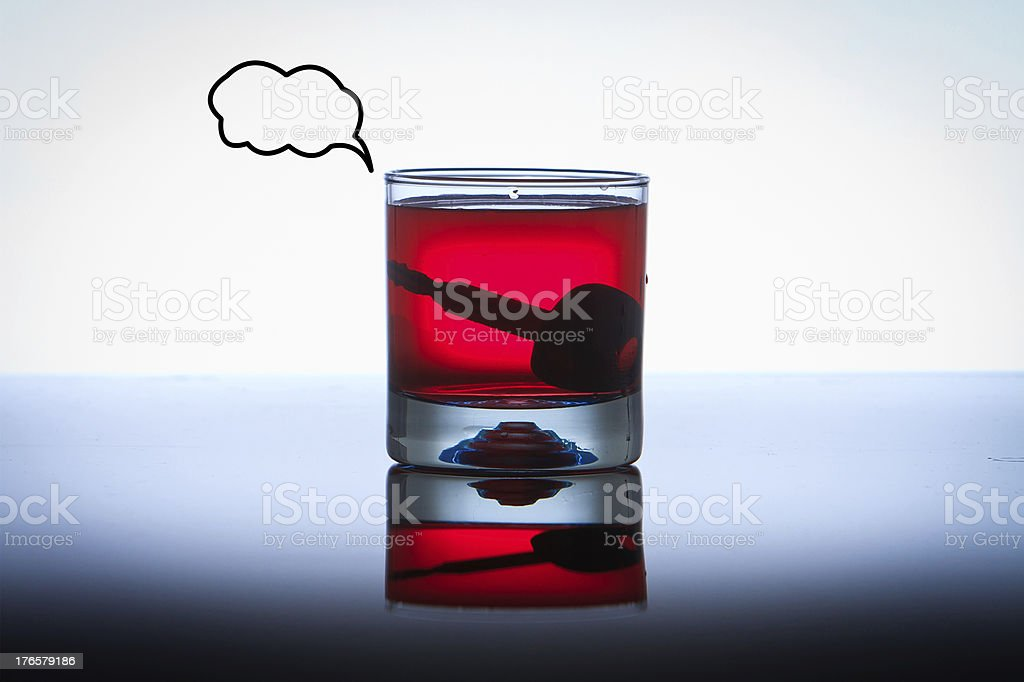 Alcoholic Drink with Car Keys concept drinking and driving royalty-free stock photo