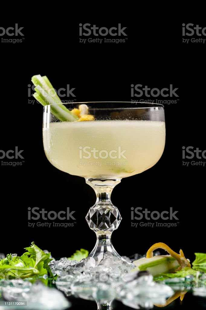 Alcoholic drinks and cocktails for bars and restaurants with ice on a...