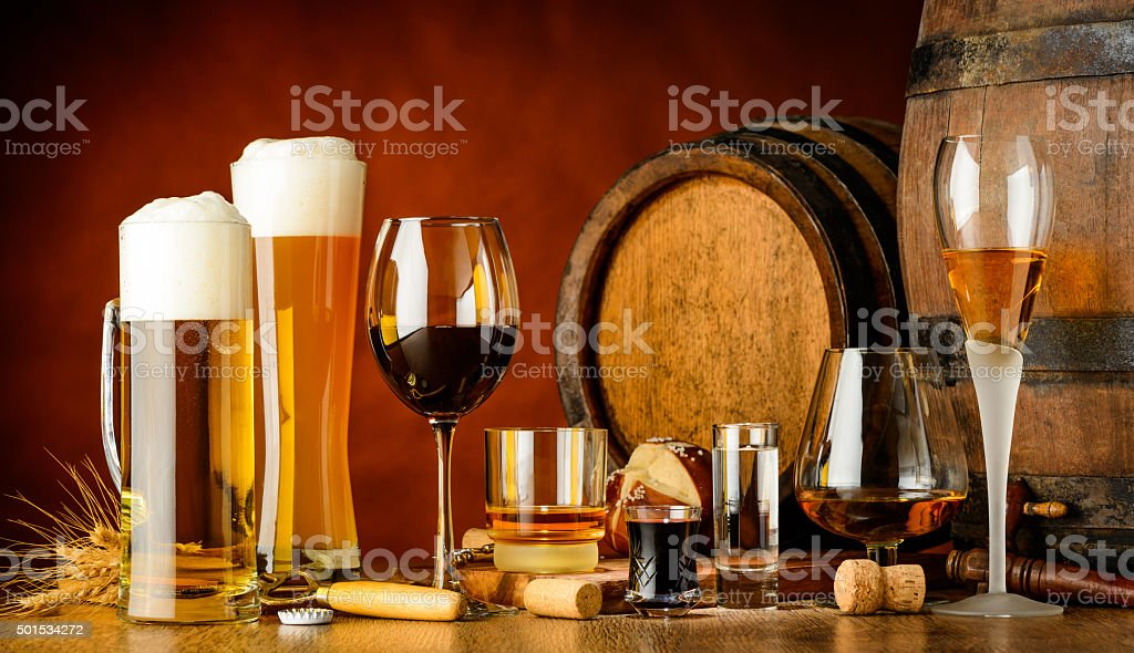 alcoholic drinks stock photo