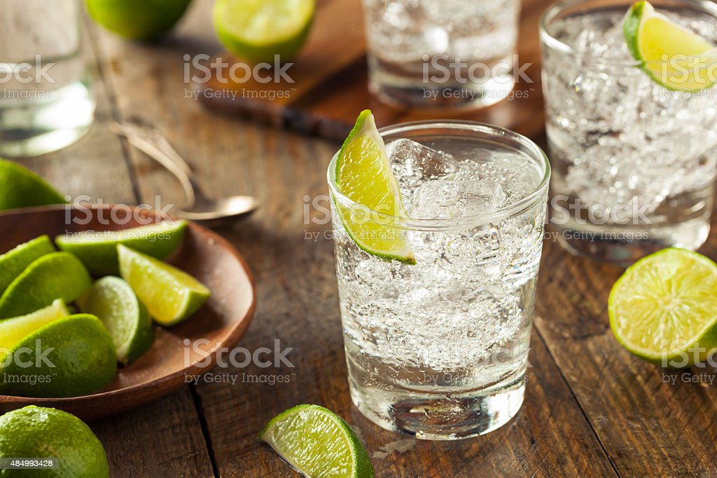 Alcoholic Gin and Tonic stock photo