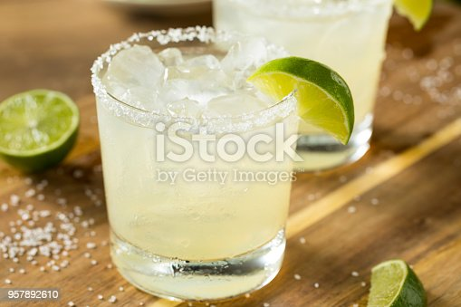 istock Alcoholic Lime Margarita with Tequila 957892610