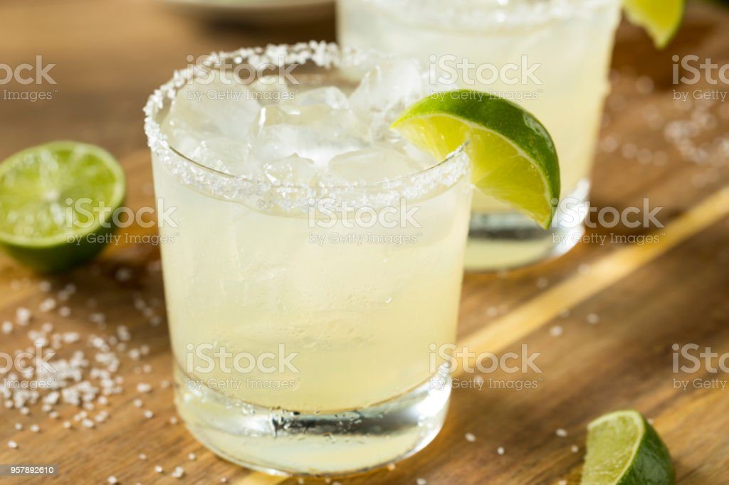 Alcoholic Lime Margarita with Tequila stock photo