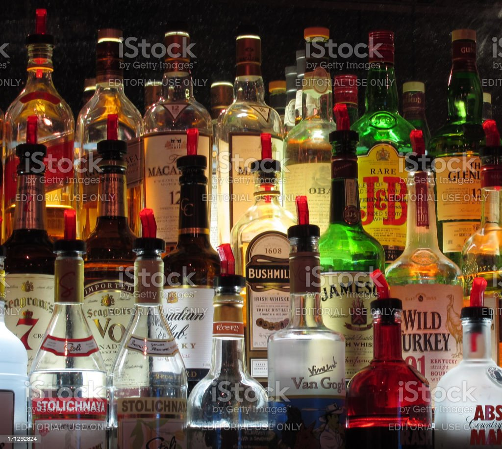 Alcoholic Pourers royalty-free stock photo