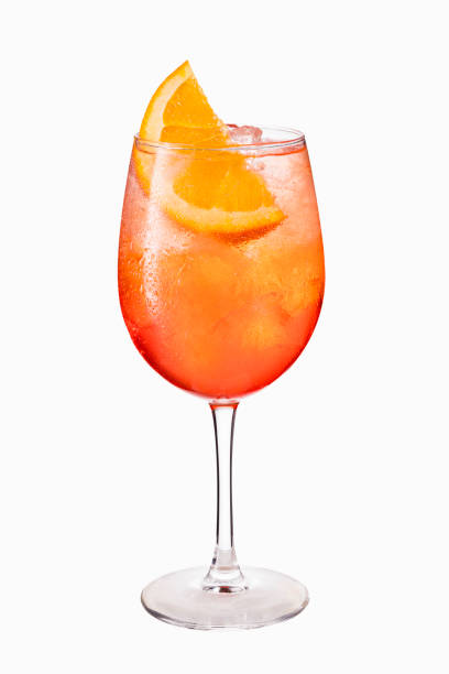 Alcoholic Spritz Cocktail Isolated on White Alcoholic Spritz Cocktail Isolated on White with Clipping Path spraying stock pictures, royalty-free photos & images