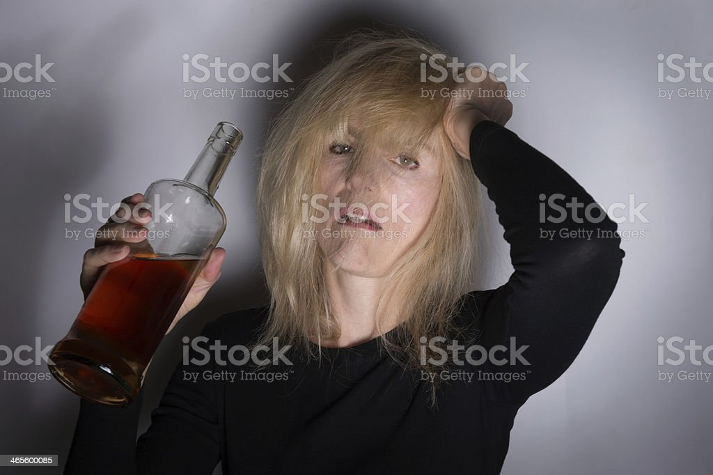 Alcoholic Woman royalty-free stock photo
