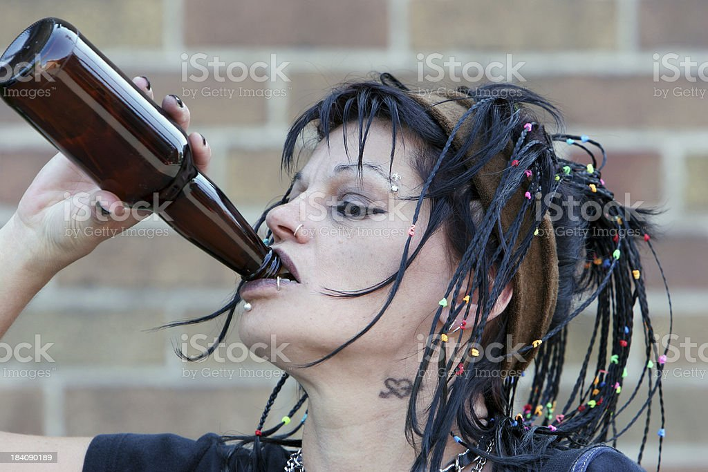 Alcoholism and misery royalty-free stock photo