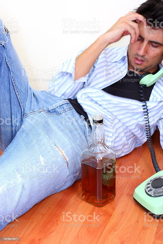Alcoholism royalty-free stock photo