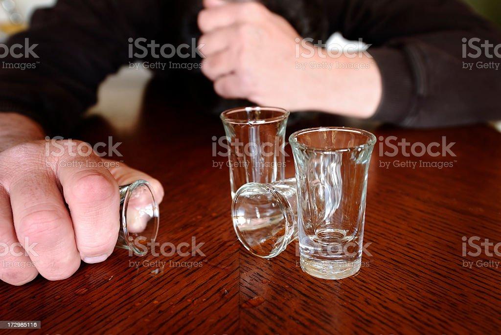 Alcoholism royalty-free stock photo