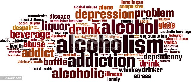 istock Alcoholism word cloud concept 1000354366