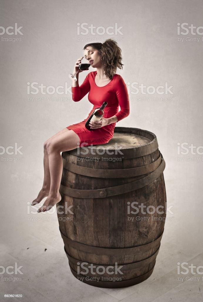 Alcoholist stock photo