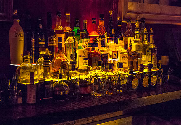 Alcolohic bewerages au bar - Photo