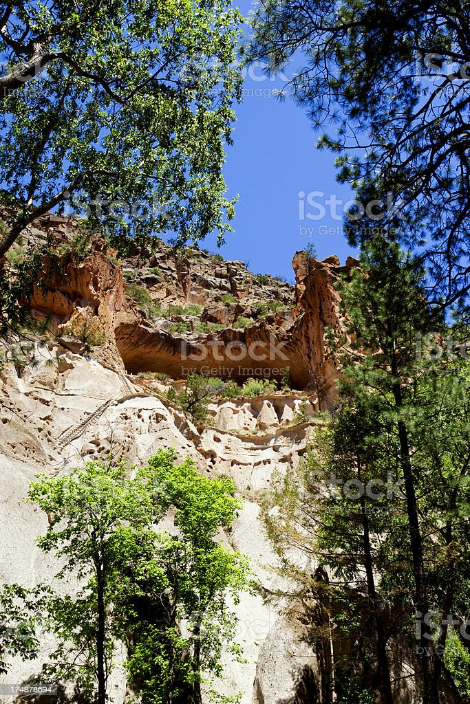 Alcove House Cliff Dwellings - Bandelier National Monument stock photo