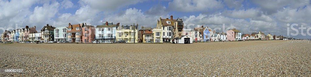Aldeburgh Seafront Panorama stock photo