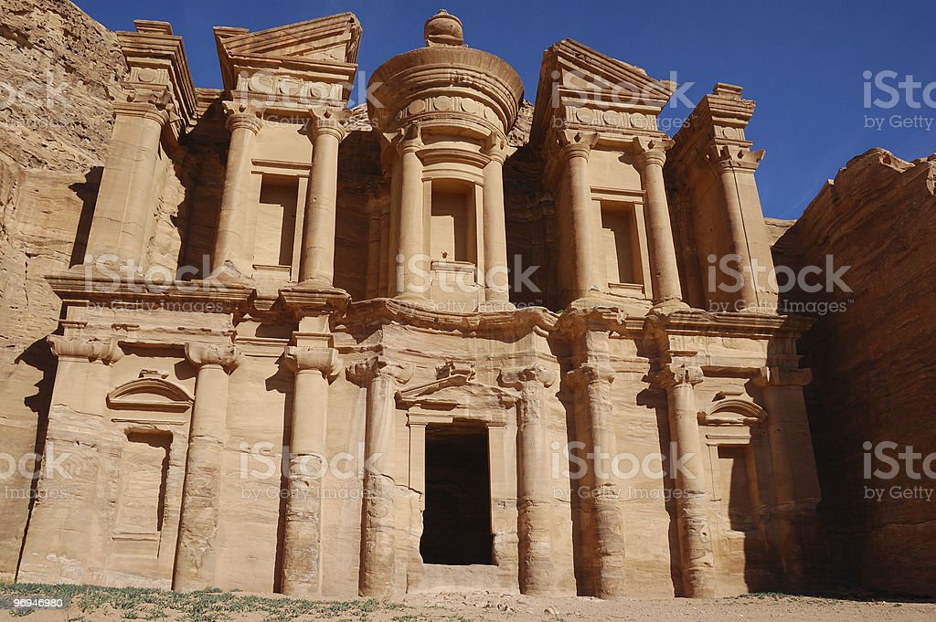 Al-Deir or The Monastery at Petra, Jordan royalty-free stock photo