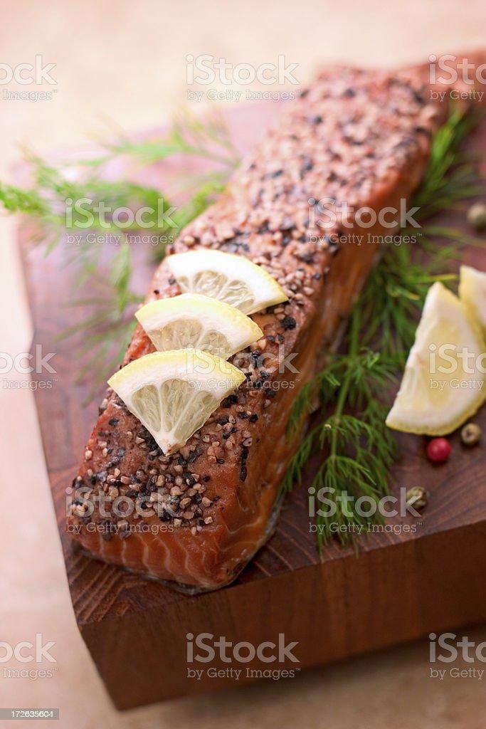Alder Smoked Salmon royalty-free stock photo