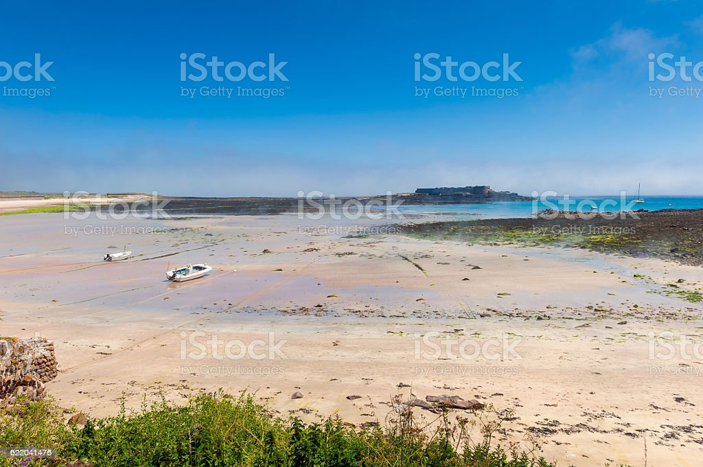 Alderney Beach at Low Tide stock photo