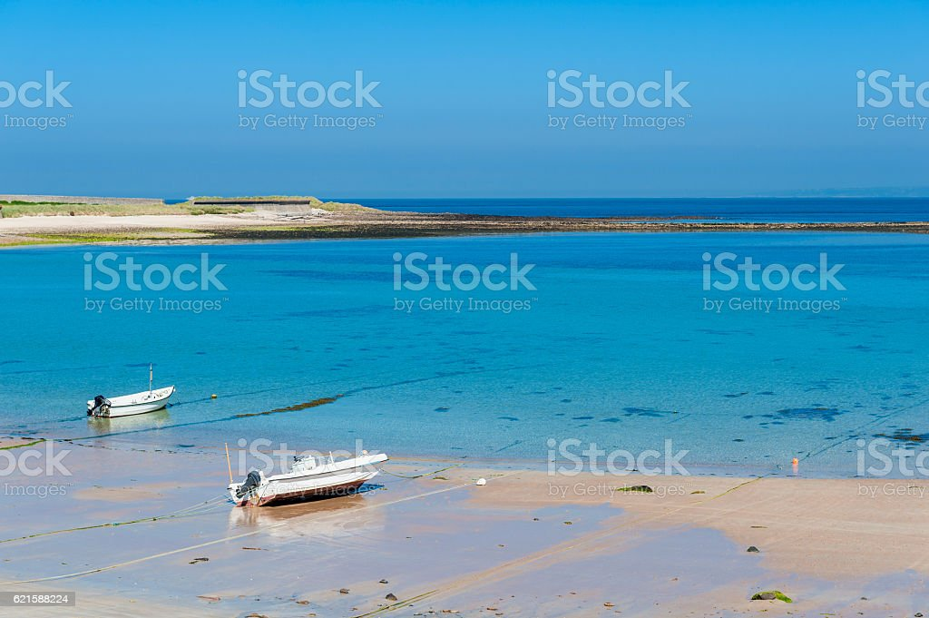 Alderney Coastline at Low Tide stock photo