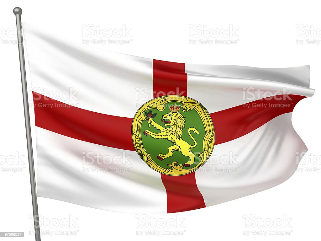 Alderney National Flag royalty-free stock photo