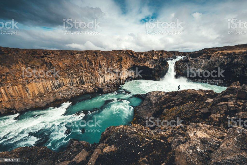 Aldeyjarfoss In Iceland stock photo