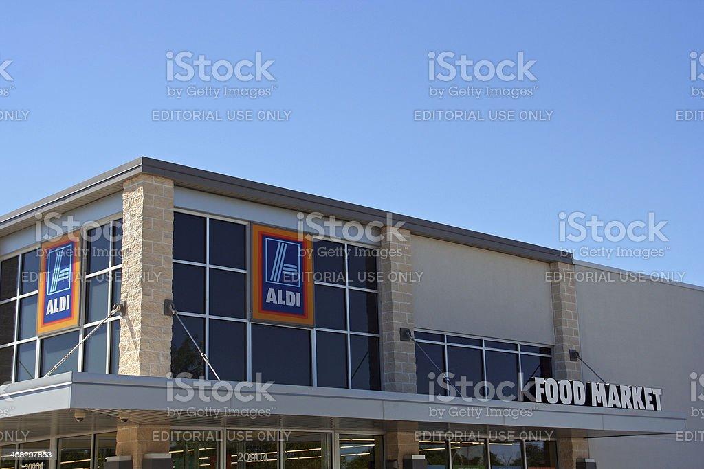 Supermercado Aldi descuento - foto de stock