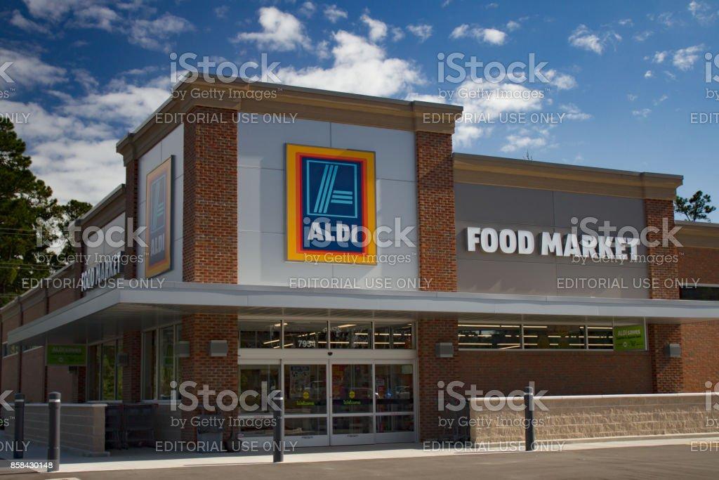 Aldi mercado de comida - foto de stock