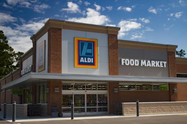aldi food market - lidl foto e immagini stock