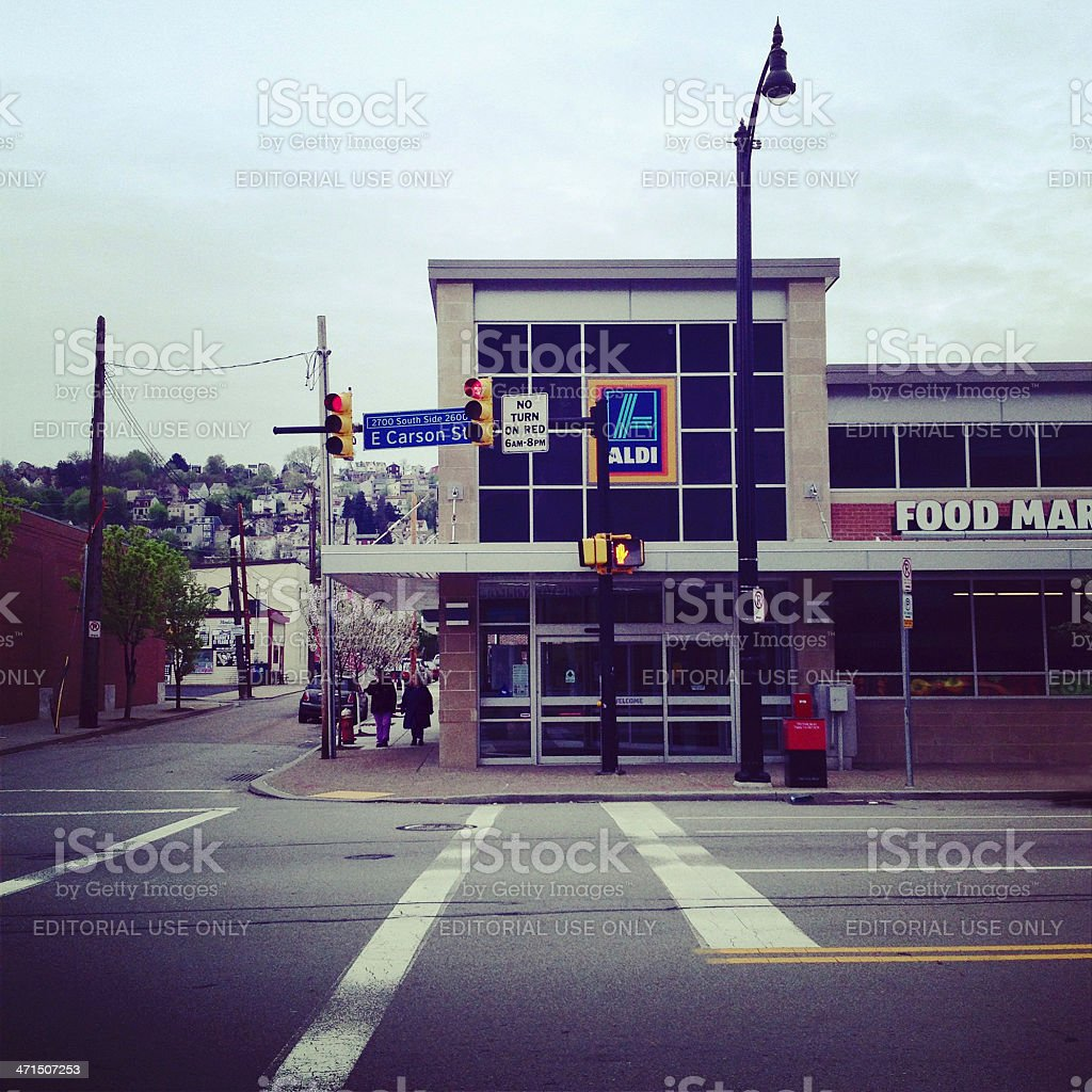 Aldi Food Store stock photo