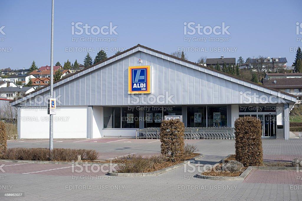 Aldi Sued mercado, Alemania. - foto de stock