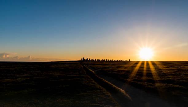 ale stenar och solnedgång - skåne bildbanksfoton och bilder