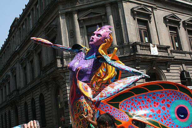 Alebrije as part of the parade in México city. - foto de stock