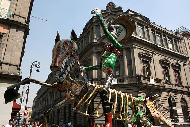Alebrije parade across the streets downtown in México City. - foto de stock
