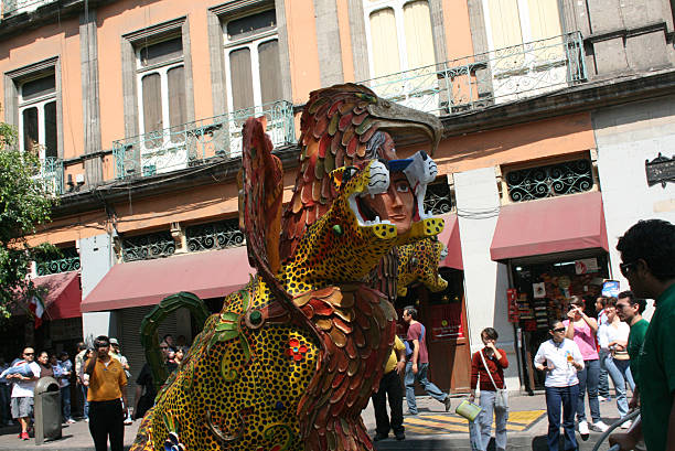 Alebrije parade across the streets in Mexico City. - foto de stock