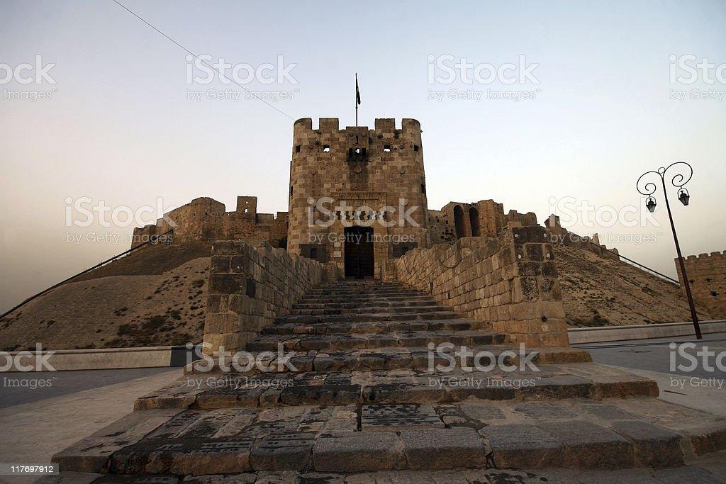 Aleppo Castle stock photo