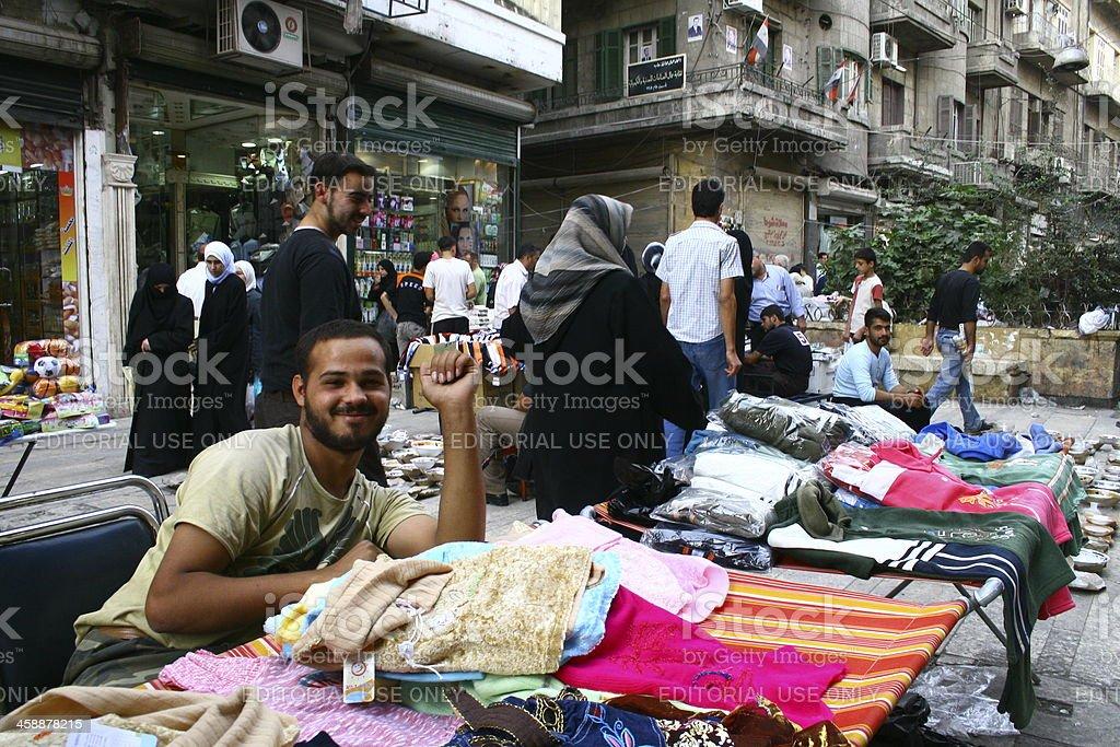 Aleppo City in Syria stock photo