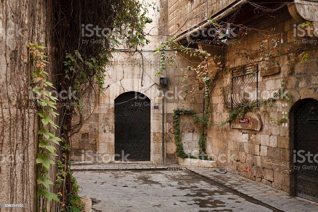 Aleppo, Syria. Street view stock photo