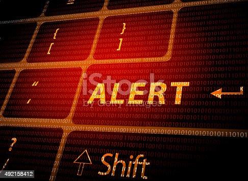 istock Alert button on computer keyboard 492158412