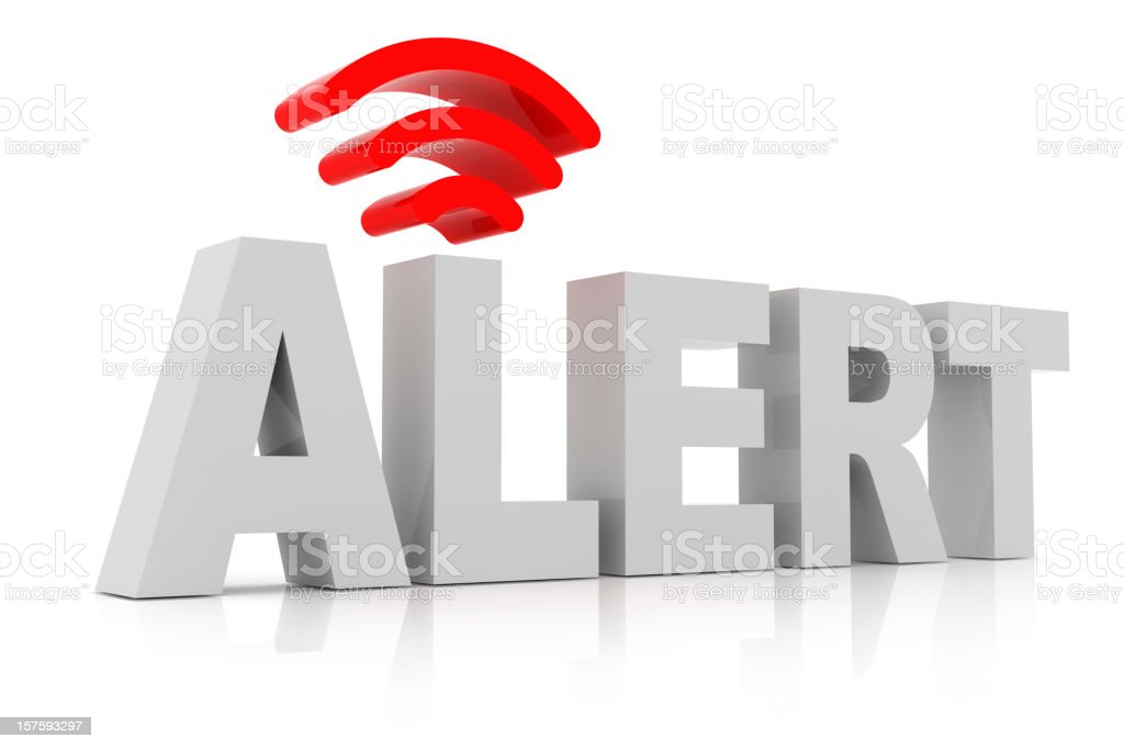 Alert Sign stock photo