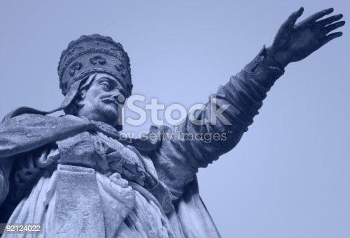 Pope Alessandro VIII statue in Prato della Valle square in Padua, Italy.