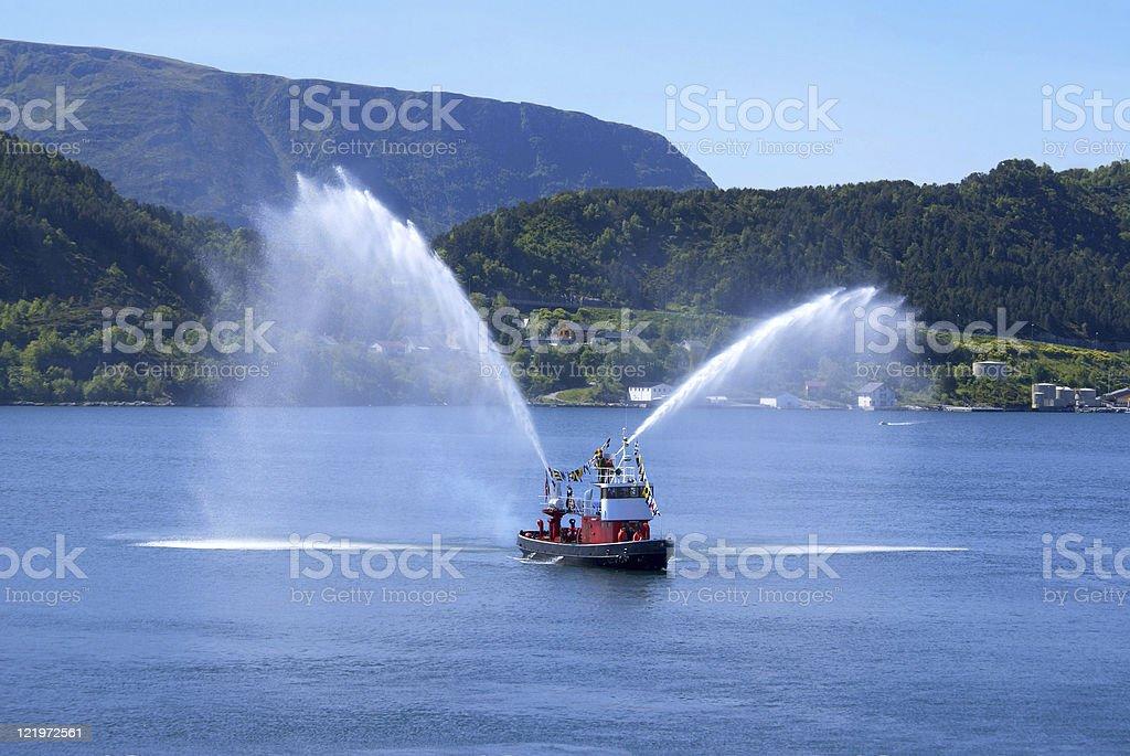 Alesund Fireboat stock photo