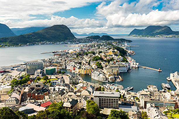 Alesund in Norway stock photo
