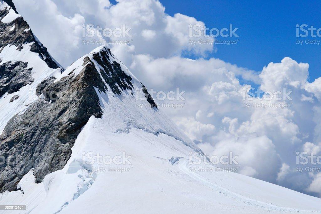 Aletsch Glacier Panoramic, Alps, Switzerland royalty-free stock photo