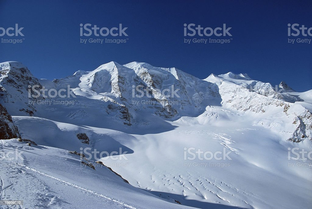 Aletsch glacier royalty-free stock photo