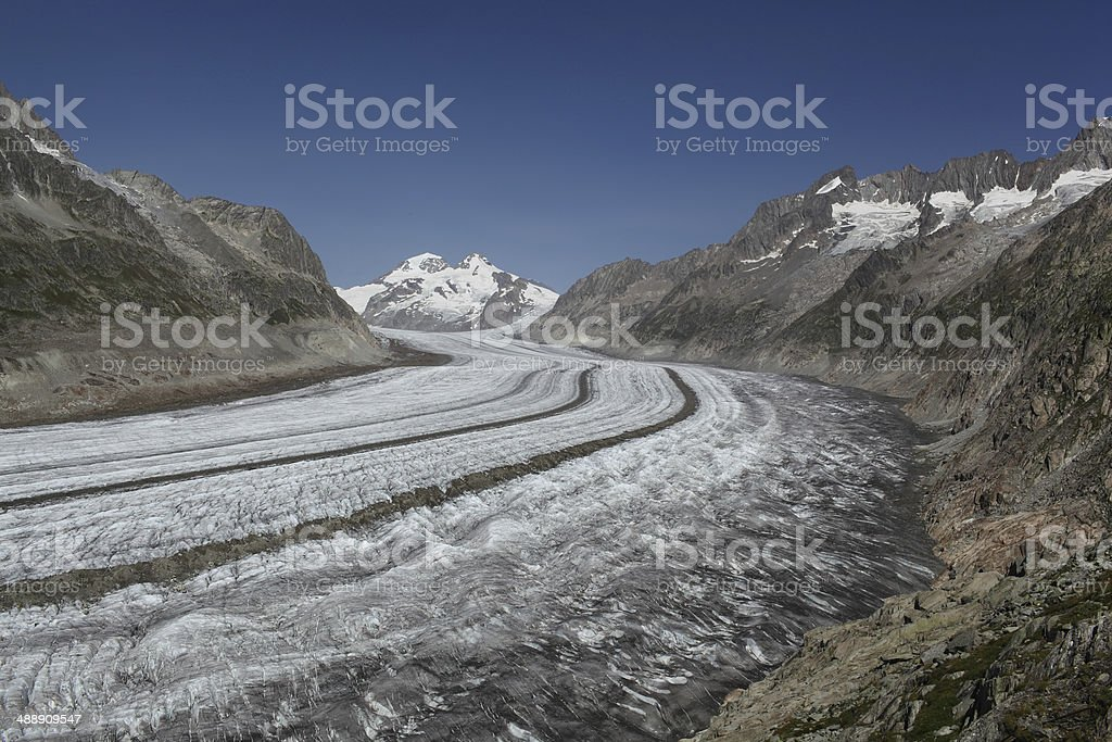 Aletsch glacier, Switzerland. royalty-free stock photo