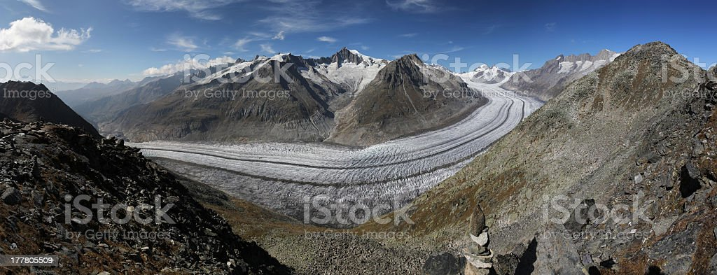 Aletschglacier stock photo